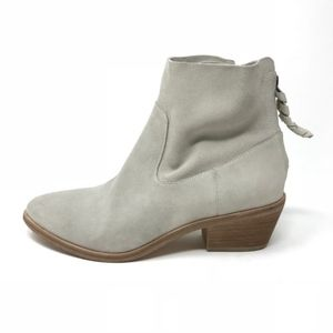 NEW Joie Adria Latte Ivory Suede Booties 37 (6.5)